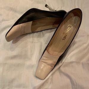 Chanel Color Block Heel
